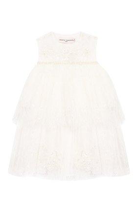 Женский шелковое платье YUDASHKIN KIDS белого цвета, арт. 219-BGE-473070 | Фото 1
