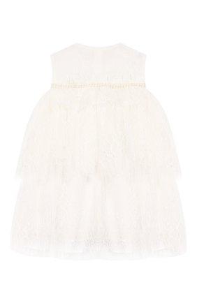 Женский шелковое платье YUDASHKIN KIDS белого цвета, арт. 219-BGE-473070 | Фото 2