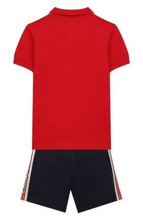 Детский комплект из поло и шорт MONCLER красного цвета, арт. F1-951-8M706-20-8496F | Фото 2