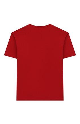 Детская хлопковая футболка DOLCE & GABBANA красного цвета, арт. L4JTAU/G7VZV/2-6 | Фото 2