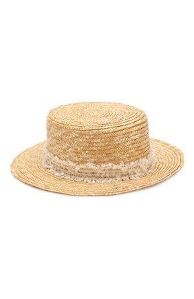 Детская соломенная шляпа DESIGNERS CAT бежевого цвета, арт. 100000K01000442/56-58 | Фото 2