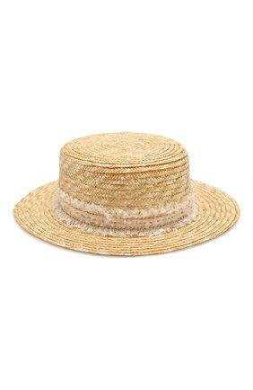 Детская соломенная шляпа DESIGNERS CAT бежевого цвета, арт. 100000K01000442/50-54 | Фото 1