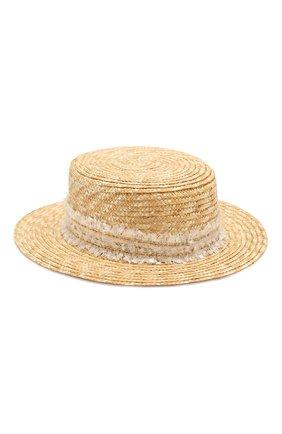 Детская соломенная шляпа DESIGNERS CAT бежевого цвета, арт. 100000K01000442/50-54 | Фото 2