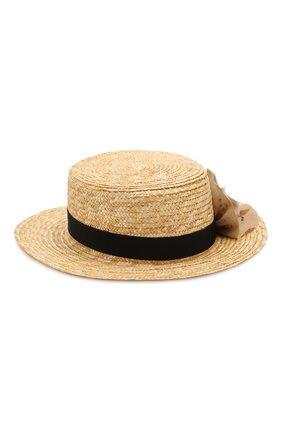 Детская соломенная шляпа DESIGNERS CAT черного цвета, арт. 100000K01000436/56-58 | Фото 2