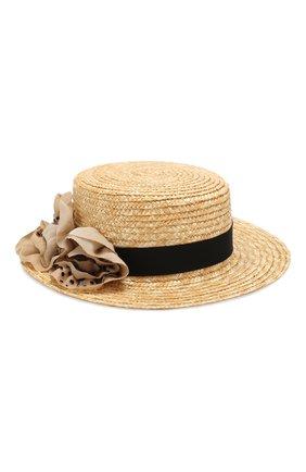 Детская соломенная шляпа DESIGNERS CAT черного цвета, арт. 100000K01000436/50-54 | Фото 1