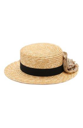 Детская соломенная шляпа DESIGNERS CAT черного цвета, арт. 100000K01000436/50-54 | Фото 2