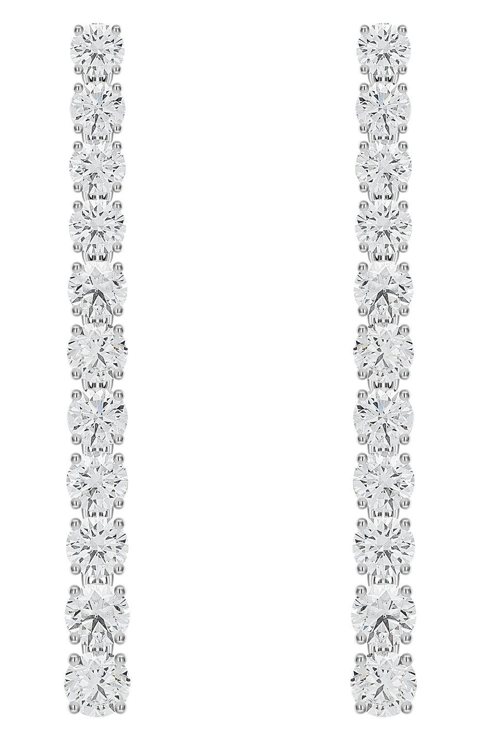 Женские серьги MERCURY бесцветного цвета, арт. ME13670/WG/STR3.00 | Фото 1 (Материал сплава: Белое золото; Драгоценные камни: Бриллианты)