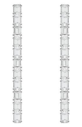 Женские серьги MERCURY бесцветного цвета, арт. ME20141/WG/STR2.00 | Фото 1 (Материал сплава: Белое золото; Драгоценные камни: Бриллианты)