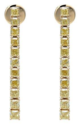 Женские серьги MERCURY бесцветного цвета, арт. ME24715/YG/CU | Фото 1 (Материал сплава: Желтое золото; Драгоценные камни: Бриллианты)