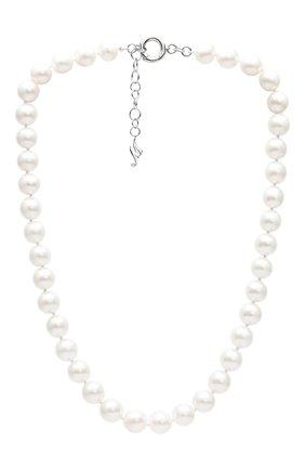 Женские колье MERCURY бесцветного цвета, арт. MN25996/PRL | Фото 1 (Материал сплава: Белое золото; Драгоценные камни: Бриллианты)