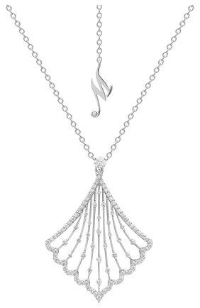 Женские кулон MERCURY бесцветного цвета, арт. MP25878/WG | Фото 1 (Материал сплава: Белое золото; Драгоценные камни: Бриллианты)