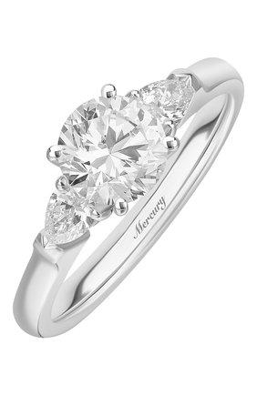 Женские кольцо MERCURY бесцветного цвета, арт. MR090WRDP | Фото 1 (Материал сплава: Белое золото; Драгоценные камни: Бриллианты)