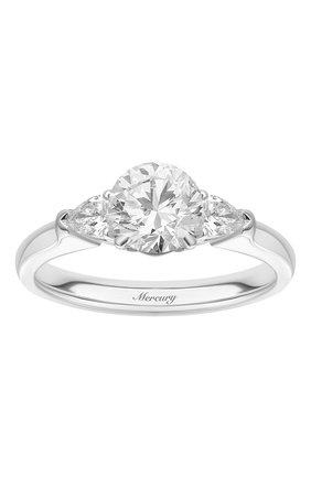 Женские кольцо MERCURY бесцветного цвета, арт. MR090WRDP | Фото 2 (Материал сплава: Белое золото; Драгоценные камни: Бриллианты)
