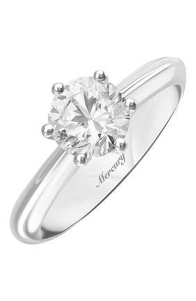 Женские кольцо MERCURY бесцветного цвета, арт. MR100/6WRD | Фото 1 (Материал сплава: Белое золото; Драгоценные камни: Бриллианты)