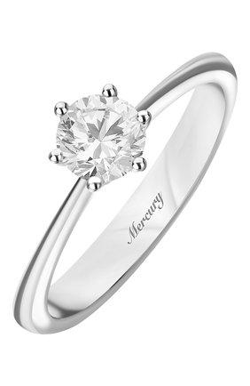 Женские кольцо MERCURY белого золота цвета, арт. MR13219/WG/1RD0.70 | Фото 1