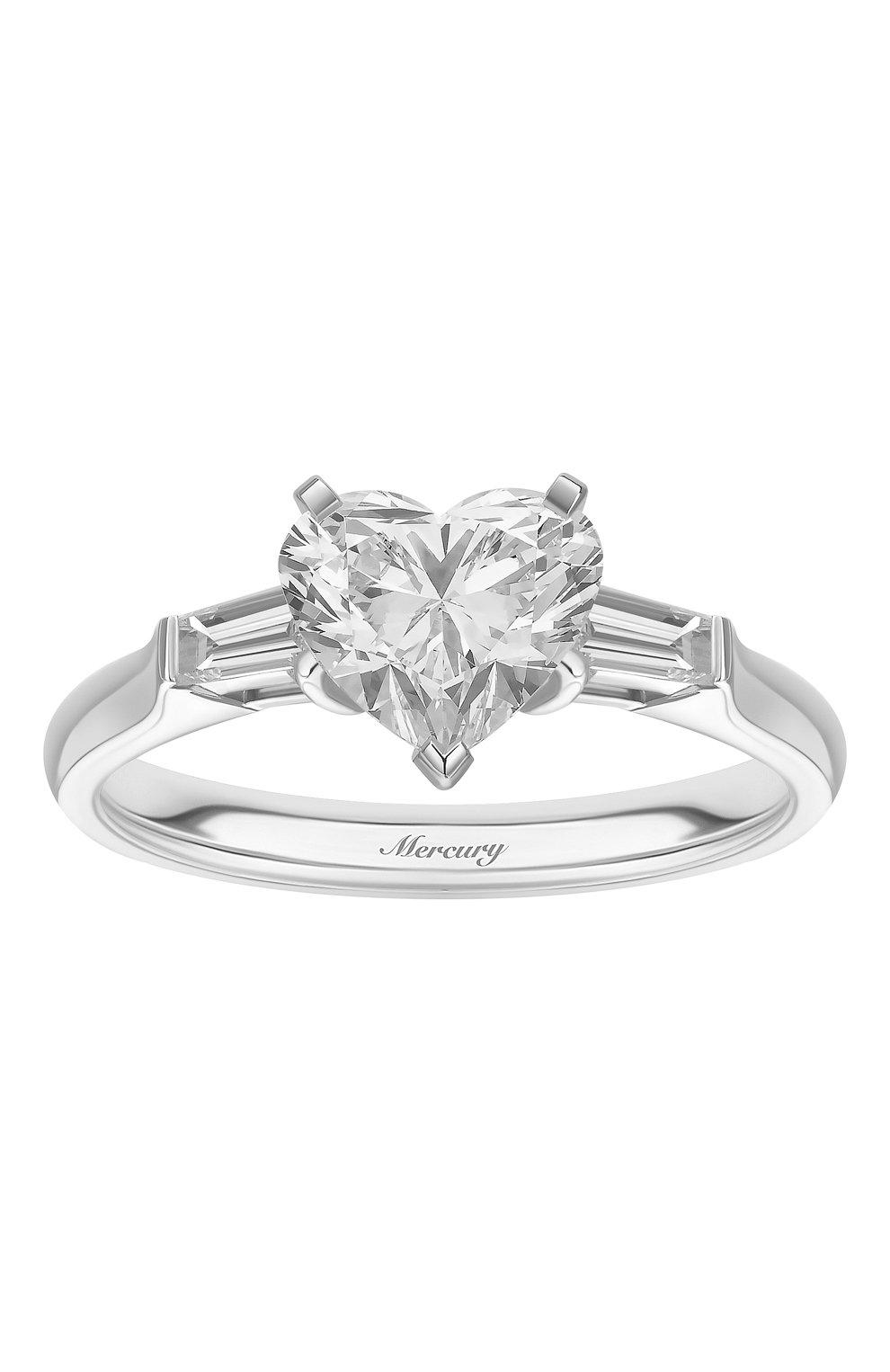 Женские кольцо MERCURY белого золота цвета, арт. MR150WHDB | Фото 2