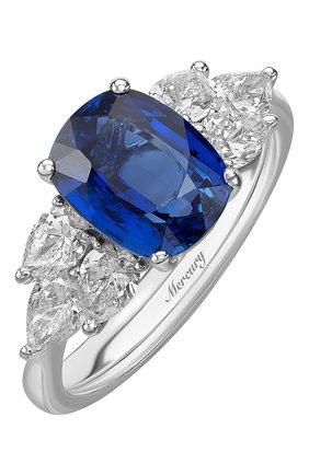 Женские кольцо MERCURY бесцветного цвета, арт. MR20469WSD | Фото 1 (Материал сплава: Белое золото; Драгоценные камни: Бриллианты)