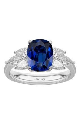 Женские кольцо MERCURY бесцветного цвета, арт. MR20469WSD | Фото 2 (Материал сплава: Белое золото; Драгоценные камни: Бриллианты)