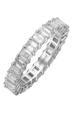 Женские кольцо MERCURY бесцветного цвета, арт. MR21285/WG/1BD0.15 | Фото 1 (Материал сплава: Белое золото; Драгоценные камни: Бриллианты)