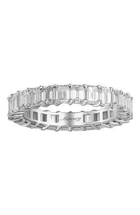 Женские кольцо MERCURY бесцветного цвета, арт. MR21285/WG/1BD0.15 | Фото 2 (Материал сплава: Белое золото; Драгоценные камни: Бриллианты)