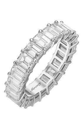 Женские кольцо MERCURY бесцветного цвета, арт. MR21285/WG/1BD0.30 | Фото 1 (Материал сплава: Белое золото; Драгоценные камни: Бриллианты)