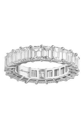 Женские кольцо MERCURY бесцветного цвета, арт. MR21285/WG/1BD0.30 | Фото 2 (Материал сплава: Белое золото; Драгоценные камни: Бриллианты)