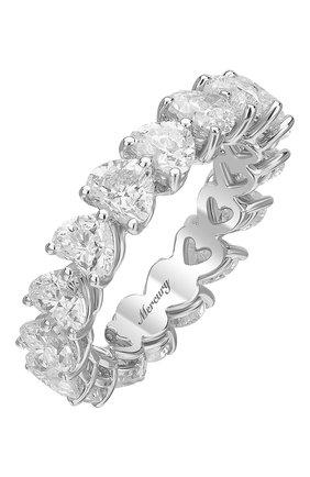 Женские кольцо MERCURY бесцветного цвета, арт. MR23285/WG/1HR0.20 | Фото 1 (Материал сплава: Белое золото; Драгоценные камни: Бриллианты)