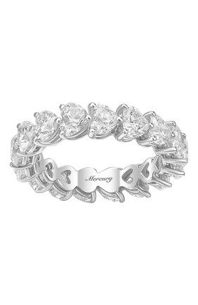 Женские кольцо MERCURY бесцветного цвета, арт. MR23285/WG/1HR0.20 | Фото 2 (Материал сплава: Белое золото; Драгоценные камни: Бриллианты)