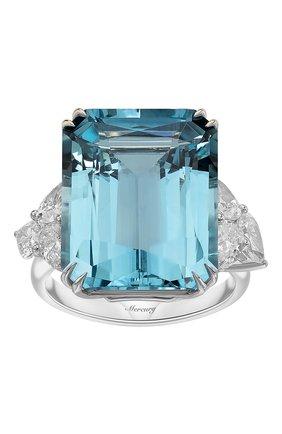 Женские кольцо MERCURY бесцветного цвета, арт. MR25447WDAQ | Фото 2 (Материал сплава: Белое золото; Драгоценные камни: Бриллианты)