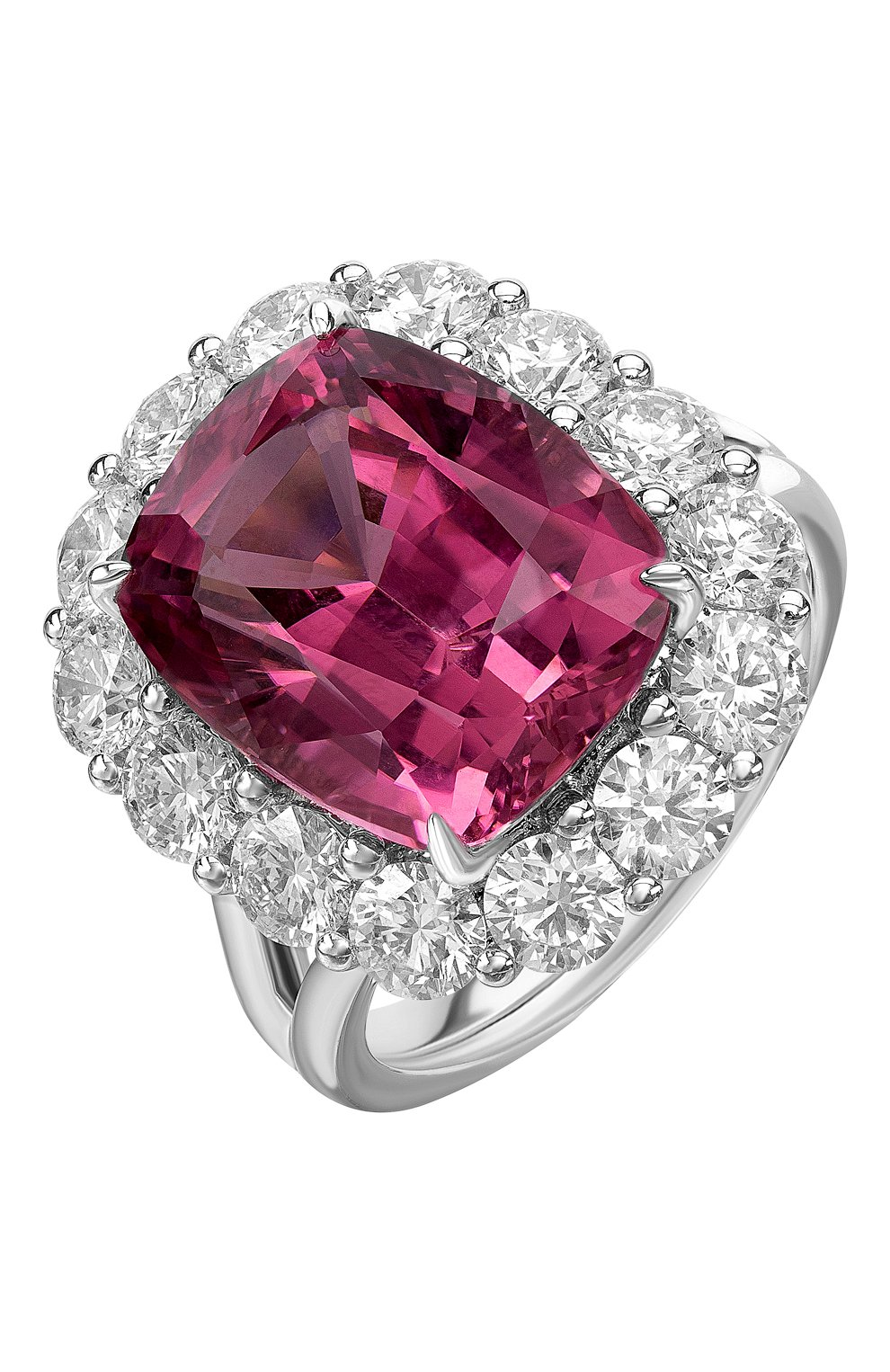 Женские кольцо MERCURY бесцветного цвета, арт. MR25448WDRUB   Фото 1 (Материал сплава: Белое золото; Драгоценные камни: Бриллианты)