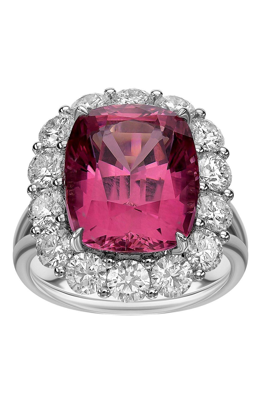 Женские кольцо MERCURY бесцветного цвета, арт. MR25448WDRUB   Фото 2 (Материал сплава: Белое золото; Драгоценные камни: Бриллианты)