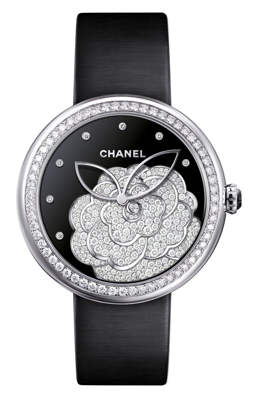 Женские часы mademoiselle prive CHANEL черного цвета, арт. H4318 | Фото 1