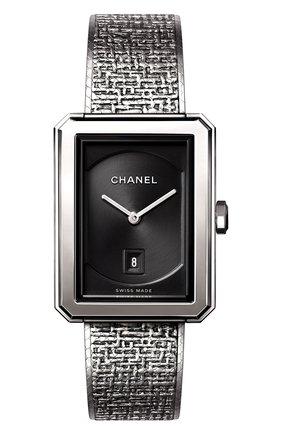Женские часы boy-friend CHANEL черного цвета, арт. H4878 | Фото 1