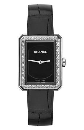 Женские часы boy-friend CHANEL черного цвета, арт. H4883 | Фото 1