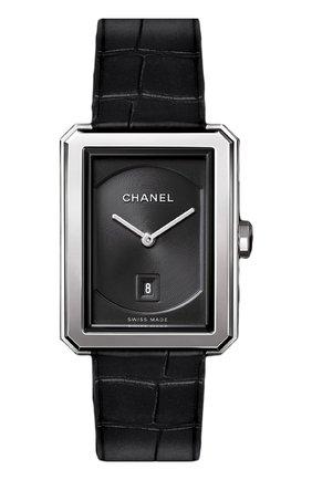 Женские часы boy-friend CHANEL черного цвета, арт. H4884 | Фото 1
