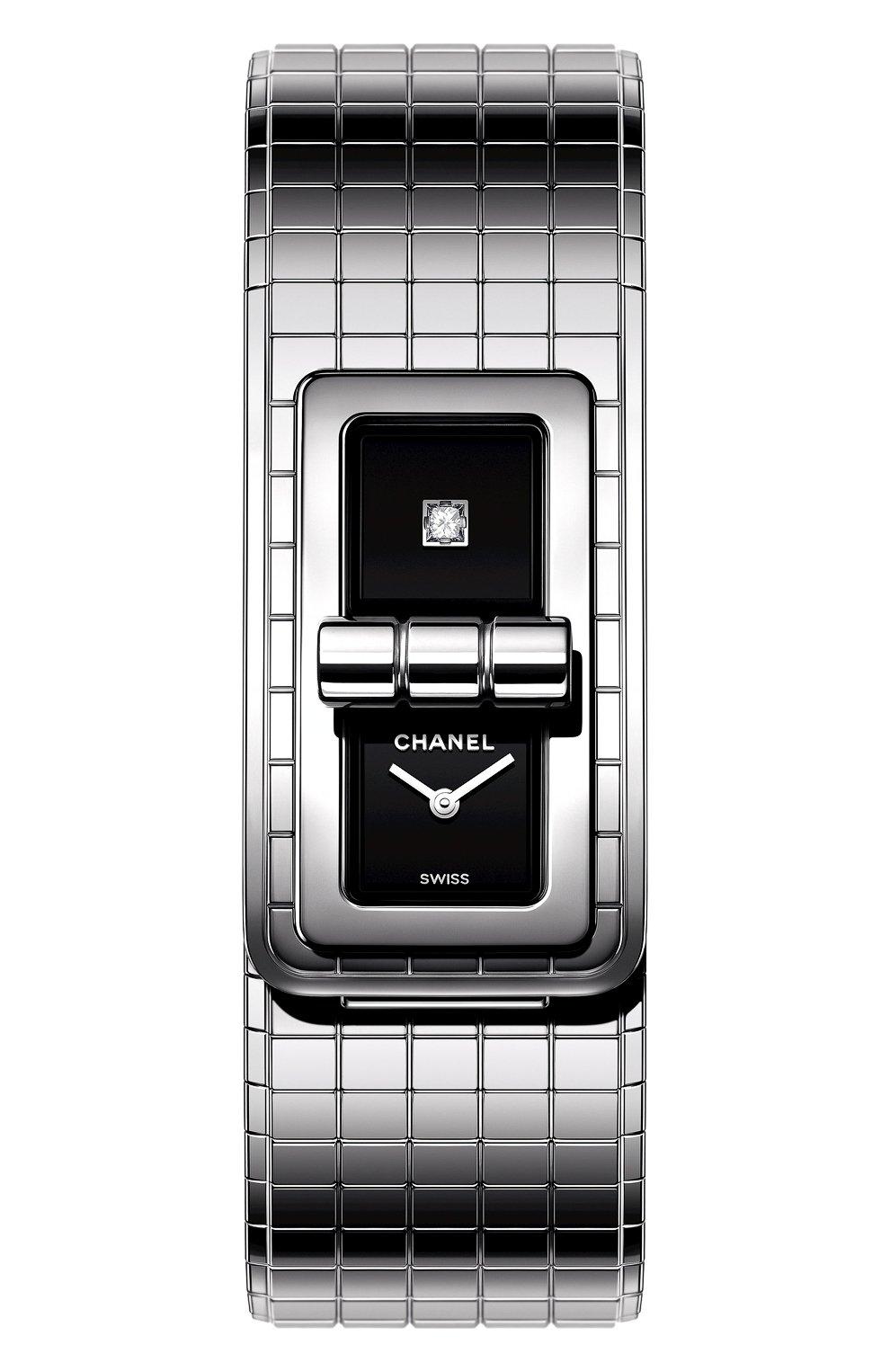 Женские часы code coco CHANEL черного цвета, арт. H5144 | Фото 1