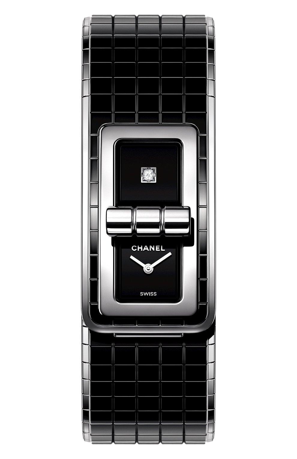 Женские часы code coco CHANEL черного цвета, арт. H5147 | Фото 1