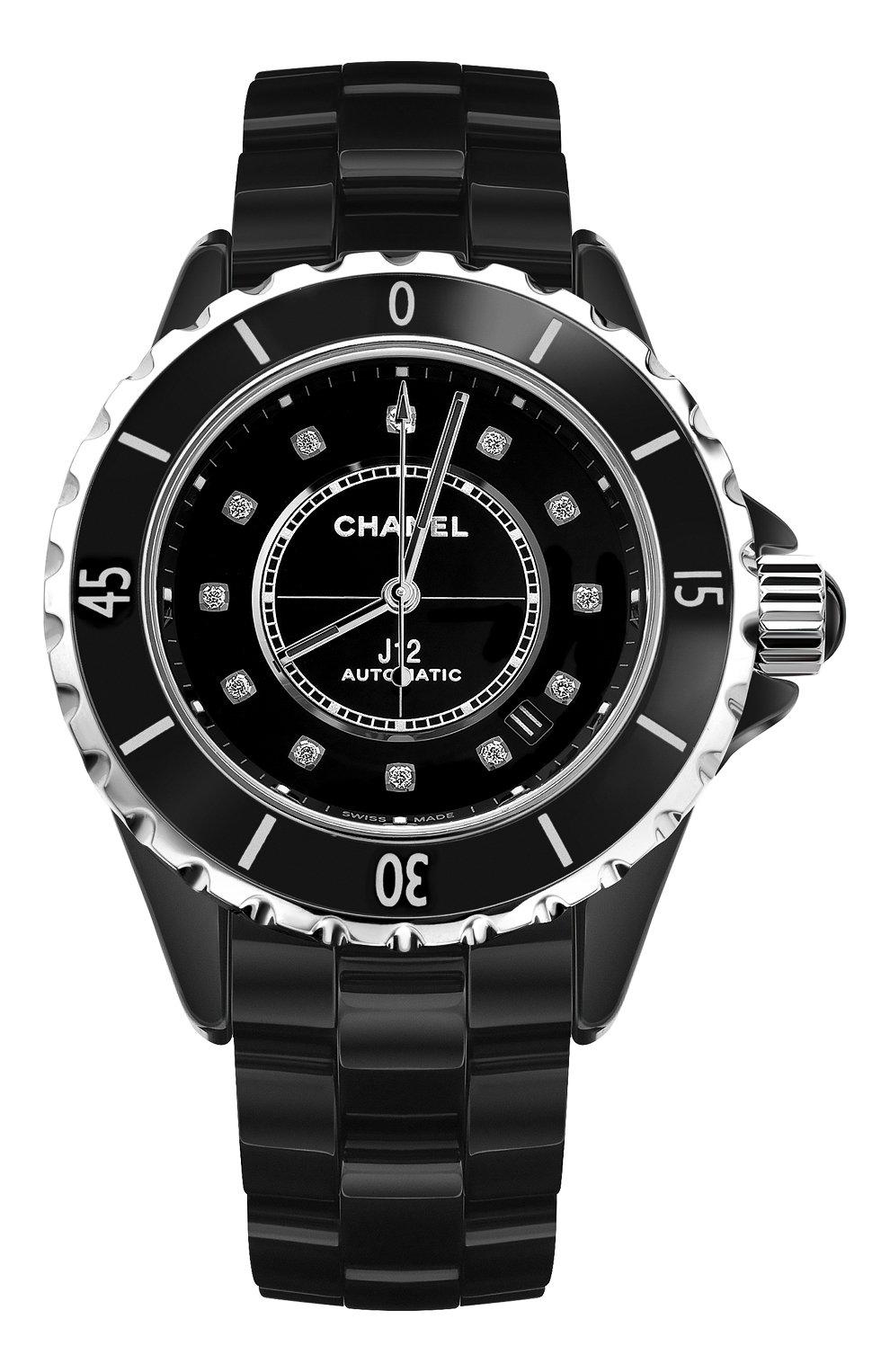 Женские часы j12 CHANEL черного цвета, арт. H5702   Фото 1