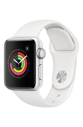 Смарт-часы Apple Watch Series 3 GPS 38mm Silver Aluminium Case with White Sport Band | Фото №1