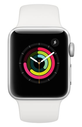 Смарт-часы Apple Watch Series 3 GPS 38mm Silver Aluminium Case with White Sport Band | Фото №2