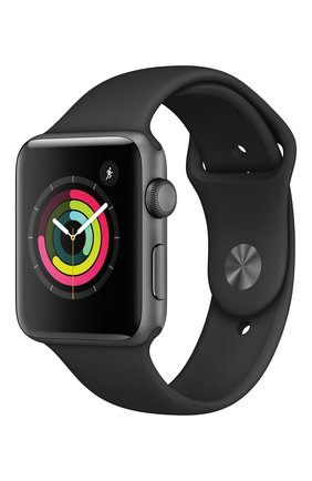 Смарт-часы Apple Watch Series 3 GPS 42mm Space Gray Aluminium Case with Black Sport Band | Фото №1