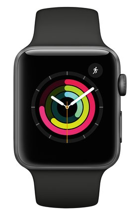 Смарт-часы Apple Watch Series 3 GPS 42mm Space Gray Aluminium Case with Black Sport Band | Фото №2