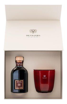 Мужского подарочный набор : диффузор + свеча rosso nobile DR. VRANJES FIRENZE бесцветного цвета, арт. FRV19-B16 | Фото 1