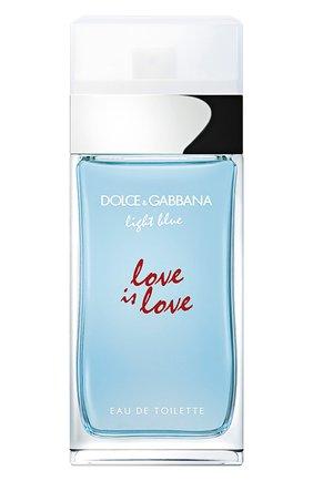 Женский туалетная вода light blue love is love DOLCE & GABBANA бесцветного цвета, арт. 8852850DG | Фото 1