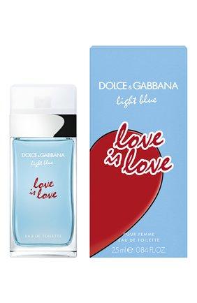 Женский туалетная вода light blue love is love DOLCE & GABBANA бесцветного цвета, арт. 8852850DG | Фото 2