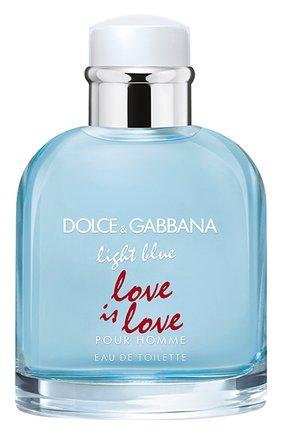 Мужской туалетная вода light blue love is love pour homme DOLCE & GABBANA бесцветного цвета, арт. 3109650DG | Фото 1