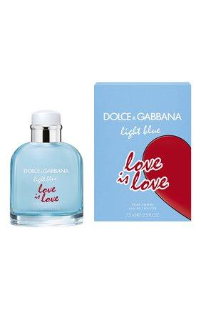 Мужской туалетная вода light blue love is love pour homme DOLCE & GABBANA бесцветного цвета, арт. 3109650DG | Фото 2