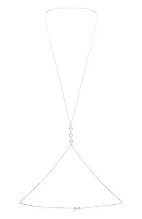 Женское колье the rose MOONKA STUDIO серебряного цвета, арт. tr-bc-qrz   Фото 1