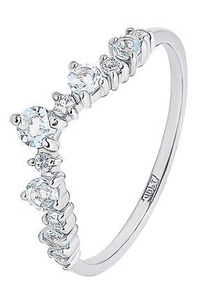 Женское кольцо-корона с голубым топазом MOONKA STUDIO серебряного цвета, арт. tr-cr-tpz   Фото 1