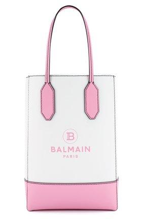 Женский сумка-тоут BALMAIN светло-розового цвета, арт. TN0S452/LARE | Фото 1